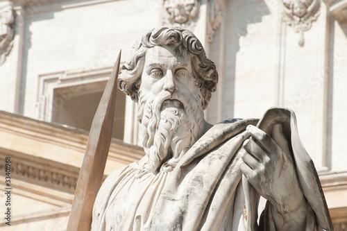 Obraz na plátne Statue of St.Peter outside The Vatican