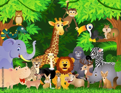 animal cartoon #33566104