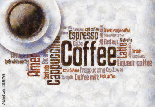 Fototapeta premium Obraz olejny do rysowania kawy