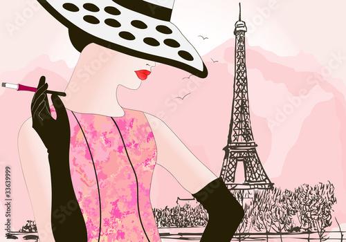 Obraz na plátně fashion woman in Paris