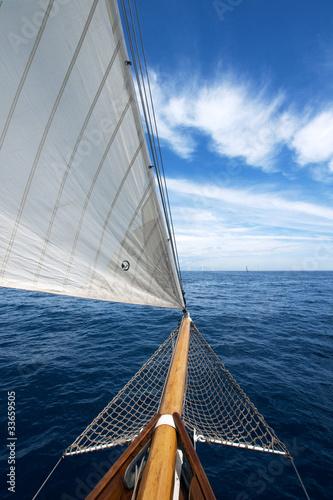 Canvas Print Bugspriet einer klassischen Yacht