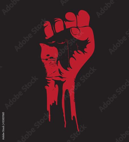 Carta da parati clenched fist