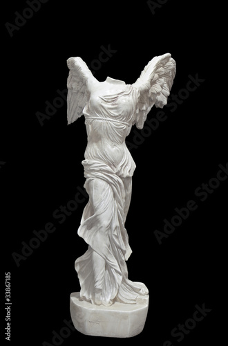 Greek classical statue of 'Nike' from Samothrace