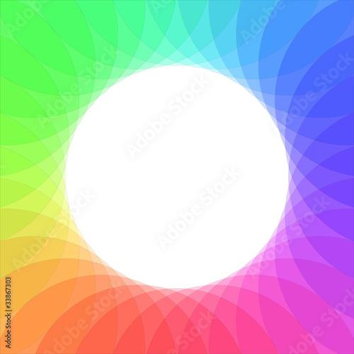 Rainbow wheel vector