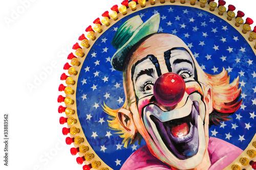 Lachender Clown Fototapete