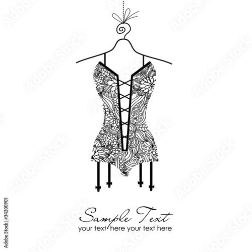 Foto black laced corset