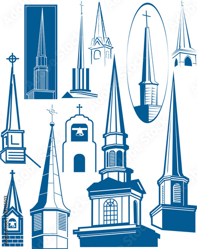 Canvas Print Steeple Collection