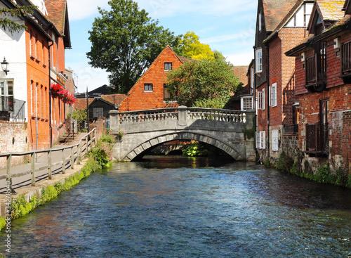 Obraz na plátně The River Itchen in Winchester, England
