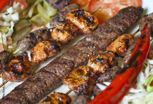 Selection of traditional turkish kebab
