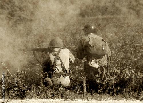 World War II soldiers Fototapet