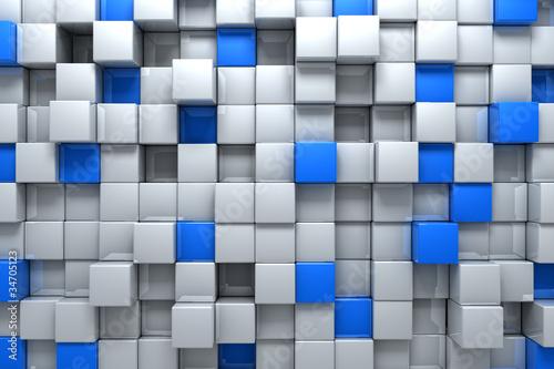 Srebrne i niebieskie pudełka