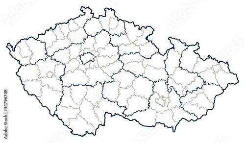 Photo Czech republic vector map.