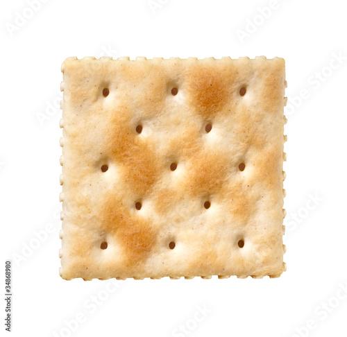 Fényképezés Saltine Cracker isolated on white
