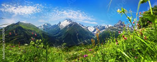 Canvas Print Кавказкие горы