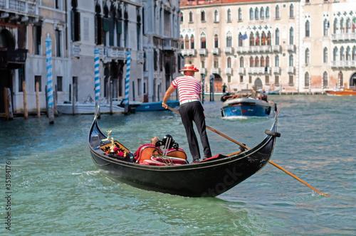 Gondolier Venise Fototapet