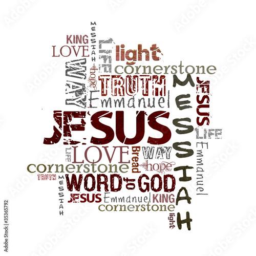 Religious Words isolated on white #35365792