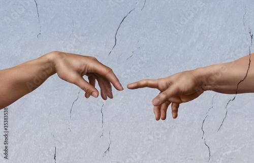 Carta da parati Michelangelo: die Erschaffung Adams
