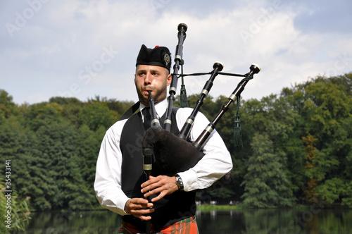 Tableau sur Toile Highland Games Machern 2011 - Dudelsackspieler
