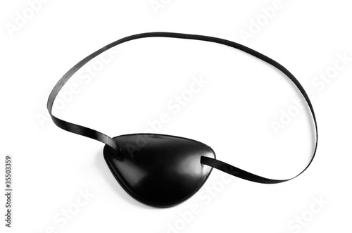 Fotografia Black pirates eye patch isolated on white