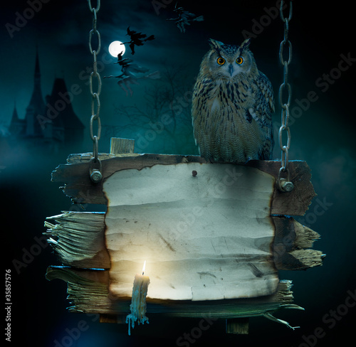 design background for Halloween party #35857576