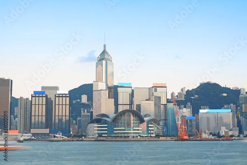 Wallpaper Mural China, Hong Kong waterfront buildings