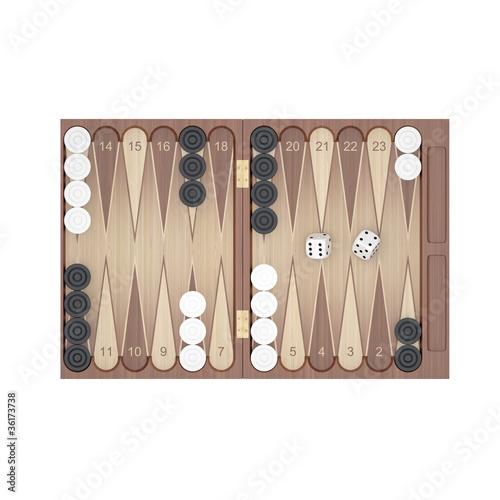 Obraz na plátne Backgammon
