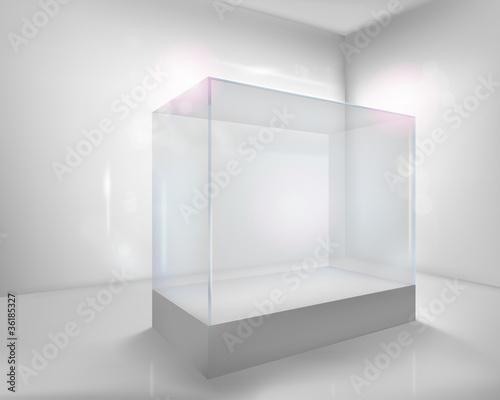 Stampa su Tela Display case. Vector illustration.