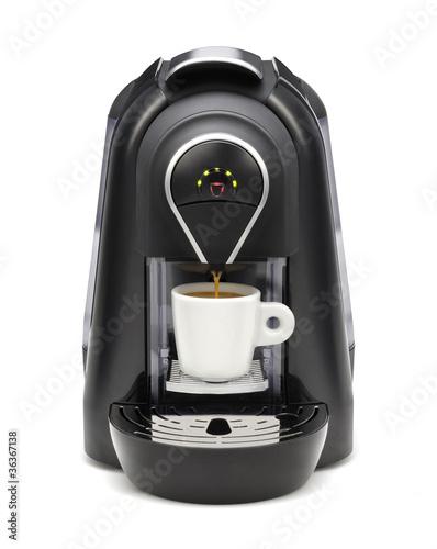 Leinwand Poster Kaffeemaschine
