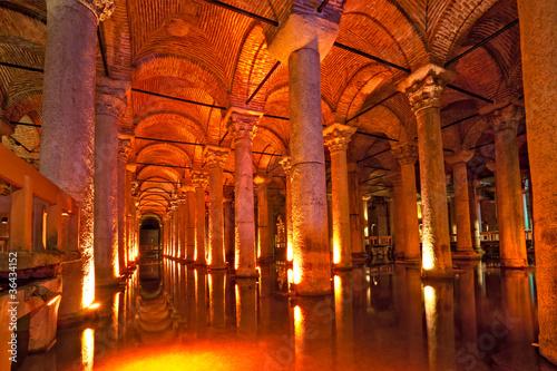 Wallpaper Mural Basilica Cistern, Istanbul, Turkey.