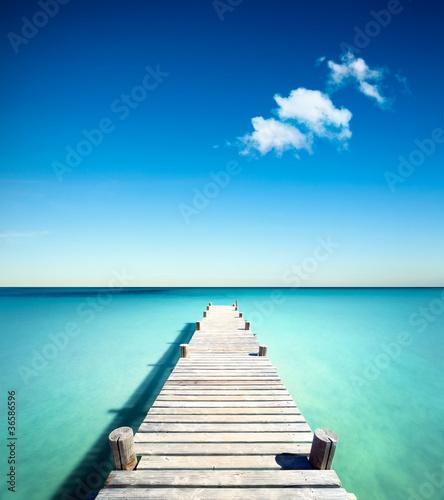 Fotografie, Tablou plage vacances ponton bois