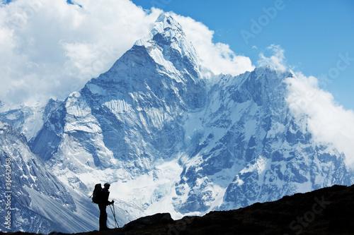 Stampa su Tela Hike in Nepal