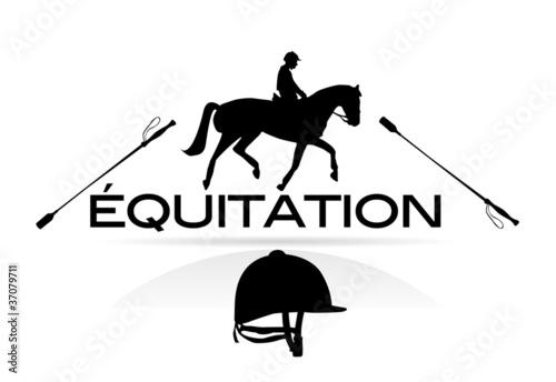 Fotografie, Tablou équitation
