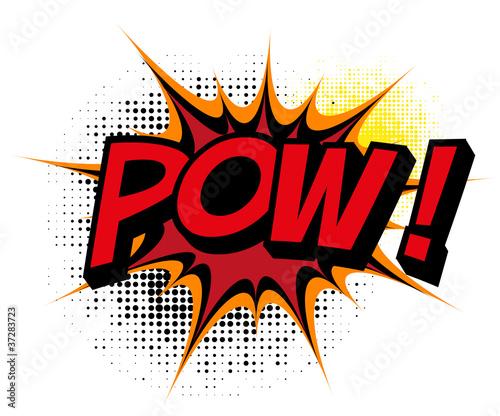 Pow. Comic book explosion. #37283723