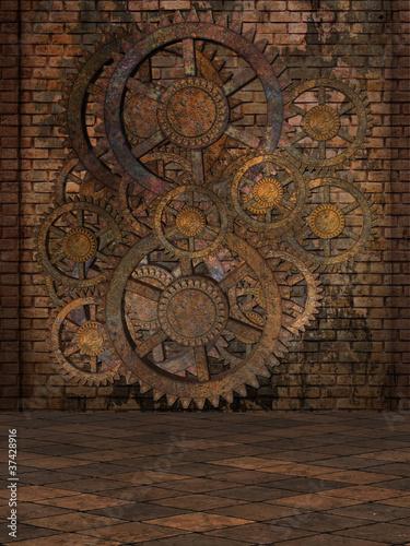 Obraz na płótnie Steampunk Background