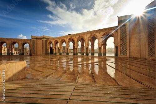 Interior of Marble Courtyard of Hamman II Mosque