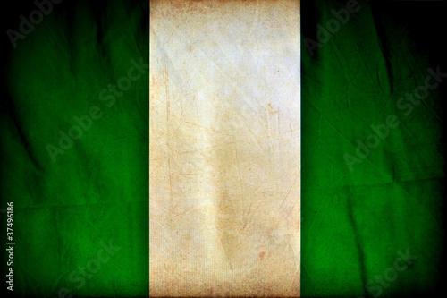 Nigeria grunge flag #37496186