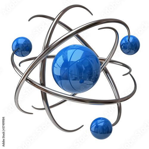 Fotografia Digital illustration of atom