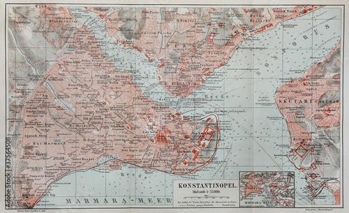 Obraz na płótnie Vintage map of Constantinople
