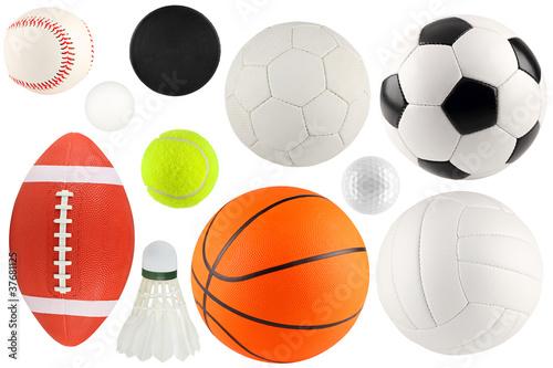 Cuadros en Lienzo Bolas en el deporte 1