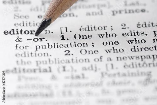 Fotografie, Obraz Editor Definition in English Dictionary.