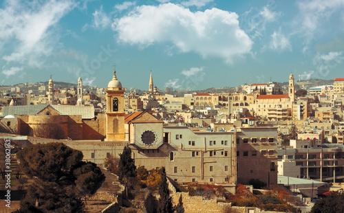Foto Bethlehem: view of historical part