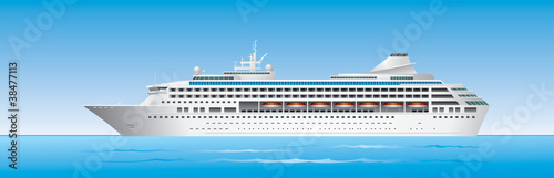 Fotografie, Obraz Cruise Ship in ocean