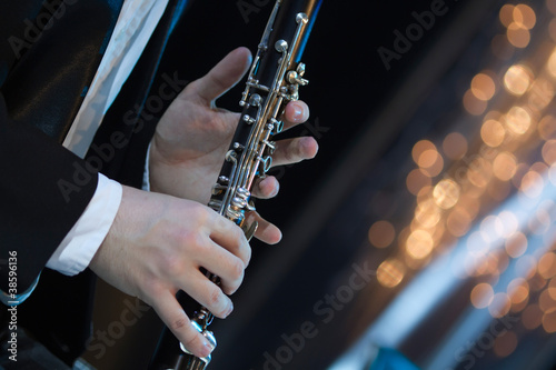 Fotomural Playing the clarinet