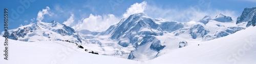 Fotografía Swiss Alps Mountain Range Landscape