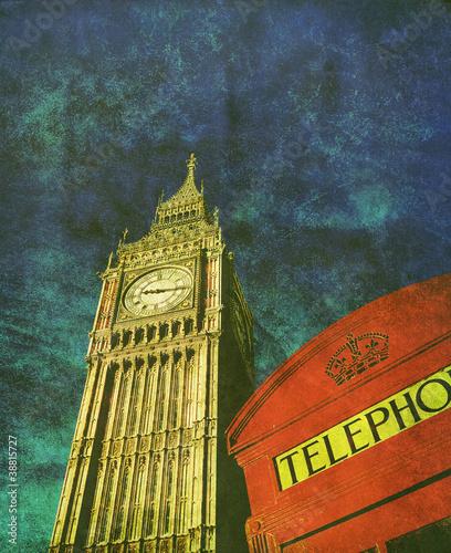old retro london photo