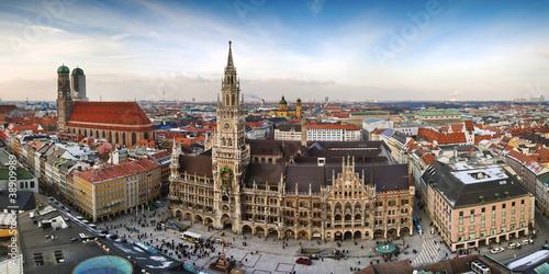 Fototapeta premium Panorama miasta Munchen