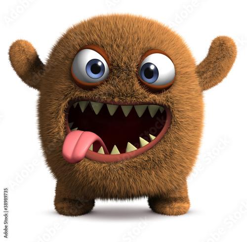 happy cartoon monster #38989735