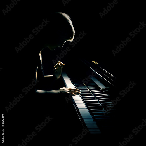 Fotografie, Obraz Piano playing pianist concert. Classical music