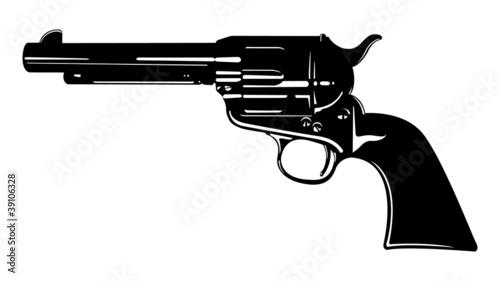 Obraz na plátně Black and White Revolver II