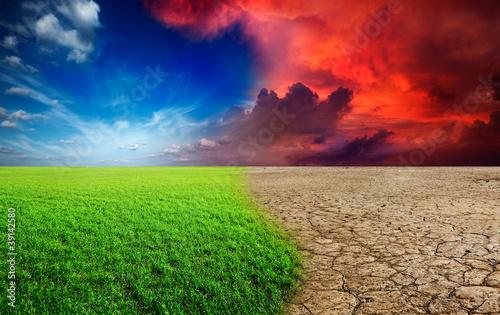 Slika na platnu Climate change